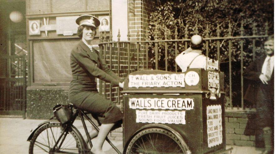 Ifra Lovett - Ice Cream Seller - 17th May 1937 | Photograph by Geoff Edmands, from the Peter Lee Collection.