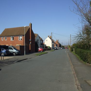 View of Church Road with The Malt Shovel Pub centre left, Ryton on Dunsmore, 2014. | Photo by Benjamin Earl.