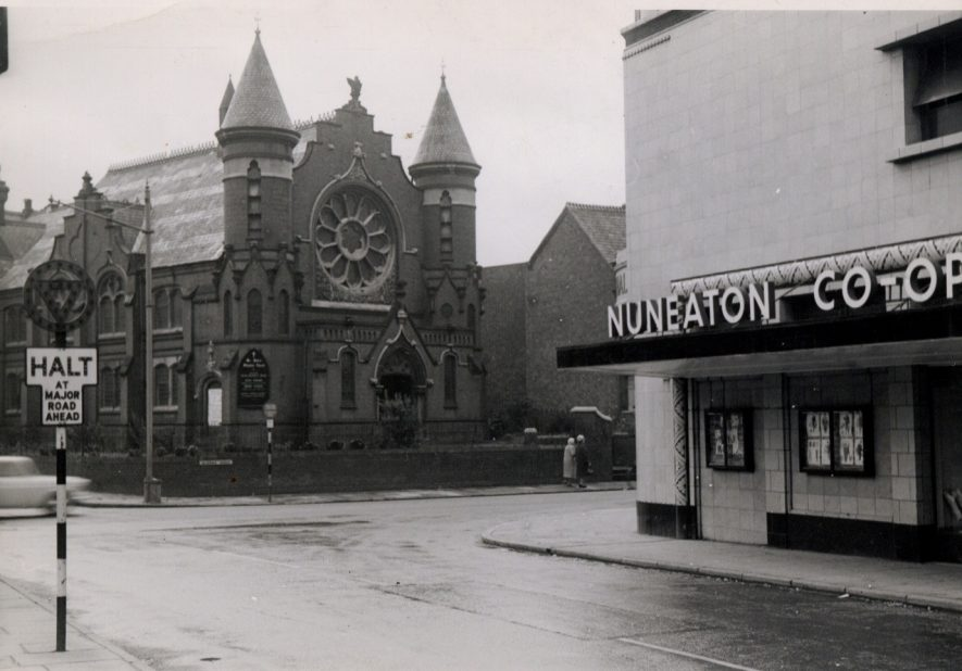 High Street looking towards Queens Road with the church being on the corner of Edward Street. | Nuneaton Memories