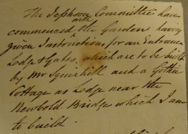 Note sent to Edward Willes from J G Jackson | Repoduced by permission of Warwickshire County Record Office, reference CR4141/5/189/230