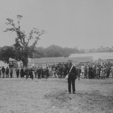 Photograph of the main arena of the Royal Show.   Warwickshire County Record Office reference PH 1035/C6017. Photographer: Miss N Slater. Copy by W.C.Allan.