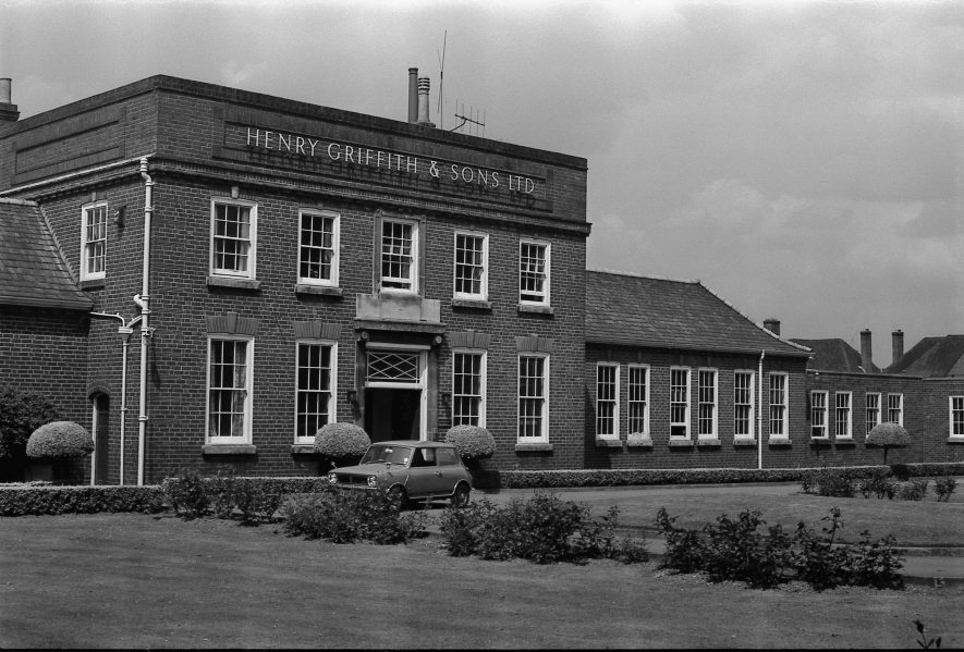 Henry Griffiths Factory. | Warwickshire County Record Office reference PH(N) 600/15401