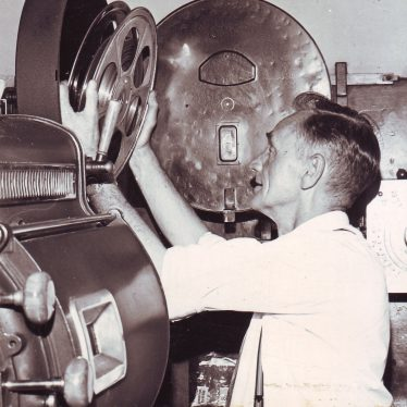 Bert Healey, projectionist at the Palace Cinema 1971. | Nuneaton Memories