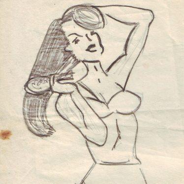 Well-endowed woman brushing her (long) hair | Nuneaton Memories