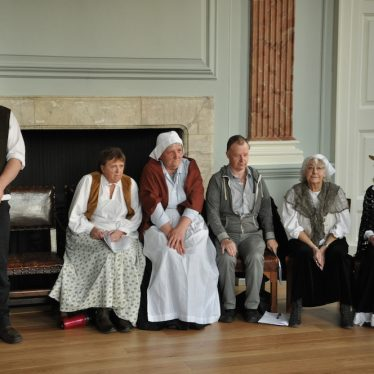 Constable John Bumford guards the defendants in our Court House drama. | Image courtesy of Fran Godwin