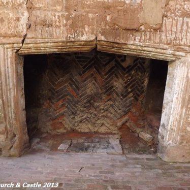 Astley Castle fireplace | Photo courtesy of Nuneaton Memories