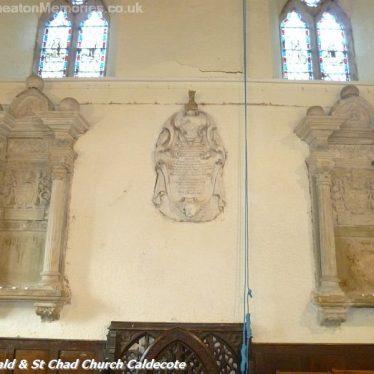 Three memorials on a wall inside the church | Nuneaton Memories