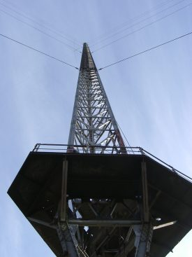 820ft Mast No.2 - c. 2002 | Photo supplied by Malcolm Hancock.