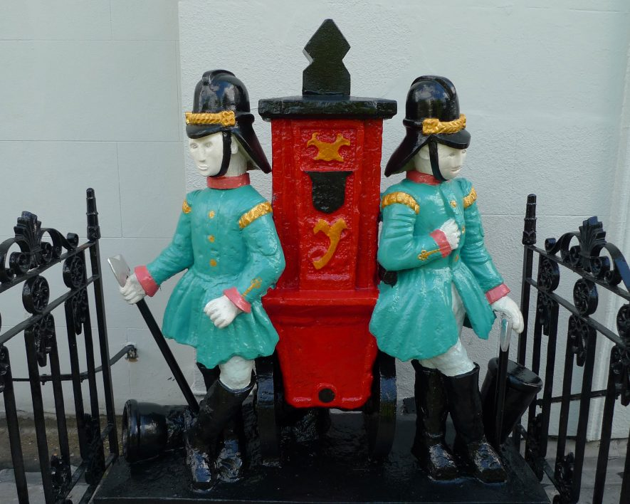 Sculptures of firemen | Image courtesy of Allan Griffin
