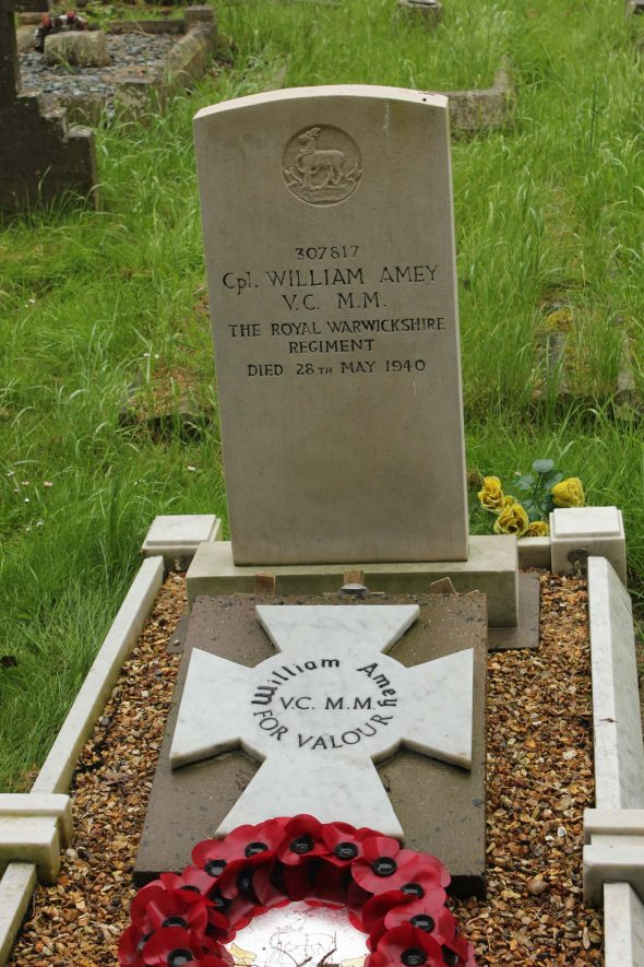 William Amey's grave. | Photo by Christine Woodland