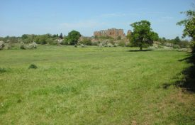 Kenilworth Castle, mere in foreground. | Photograph courtesy of Richard Neale.