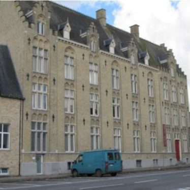 This is the school in Veurne which was the field hospital to which she delivered the wounded. | Picture (c) Johanna Moore