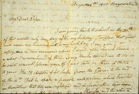 A letter Tom wrote to his father from Rugby in 1851. | Courtesy of Greg de Moore