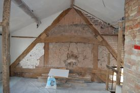 Further framing within 33 West Street. | Photo reproduced by kind permission of Archaeology Warwickshire.