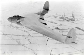 The AW52 in flight over snow-clad Warwickshire. | Photo courtesy of Alan Griffin