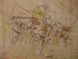 Map relating to the Bulkington Domesday Book. | Warwickshire County Record Office reference CR 3277/17/6.