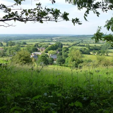 The view from Edge Hill looking down on Arlescote. 2014. Still wooded. | Photograph reproduced by kind permission of Robert Pitt.
