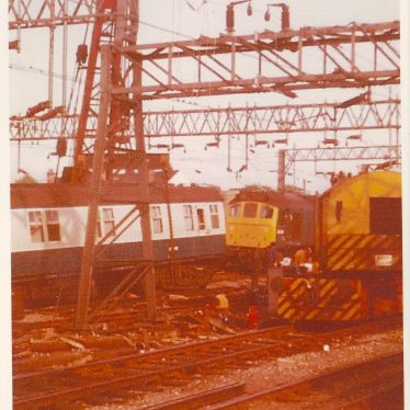 Nuneaton Train Crash 1975   Picture courtesy of David Boneham, Nuneaton Memories