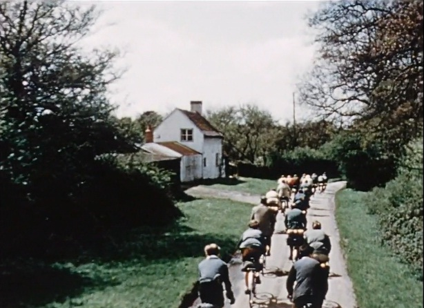 Cycling in the 1950s, still from BFI film. Click on image to play video.