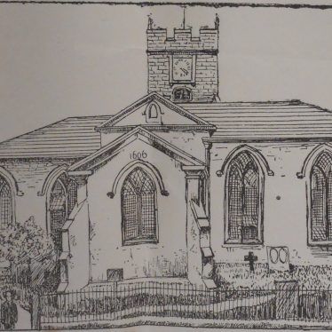 All Saints before it was rebuilt. | From the Nuneaton Chronicle Supplement of May 30th 1890.