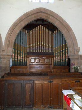 St. Peter's Organ, Bourton. Installed 1888.   Photo by Benjamin Earl