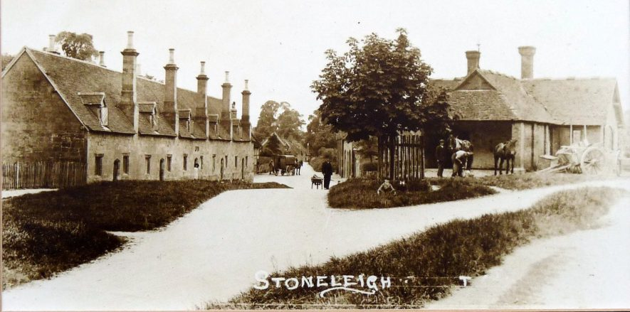 The Forge on The Green and almshouses at Stoneleigh. | Image courtesy of the Stoneleigh History Society