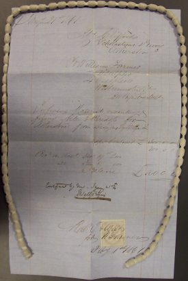Receipt for payment for work designed by Edward Pugin, 1861. | Warwickshire County Record Office reference CR4615/9.