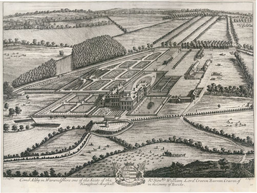 Coombe Abbey, from Kip and Knyff's Britannia Illustrata (circa 1708) | Picture sourced from Wikimedia Commons