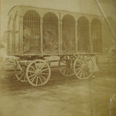 A carriage of lions. | Warwickshire County Record Office reference CR 2723.