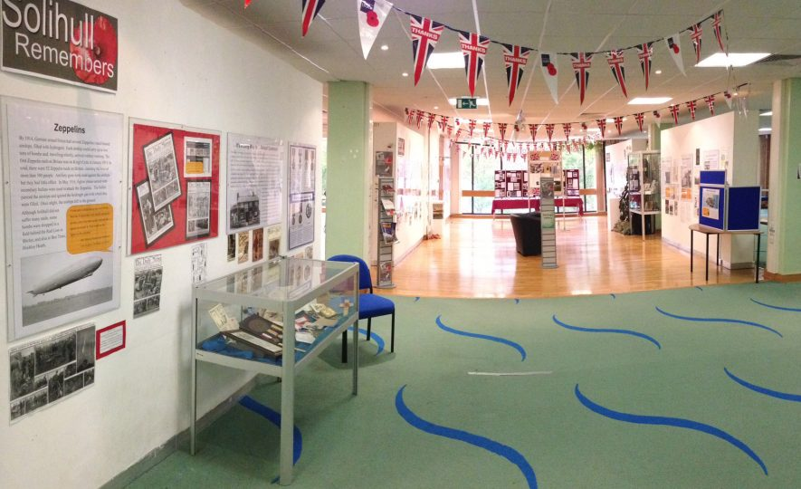Image of Solihull Remembers exhibition. | Photo courtesy of Solihull Central Library.