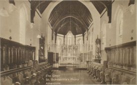 The Choir, St. Scholastica's Priory, Atherstone. c. 1920s. | Warwickshire County record Office reference PH352/14/65.