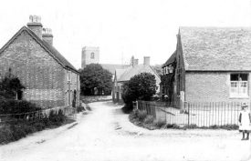 Marton church and the school. 1904. | Warwickshire County Record Office reference PH 352/120/7