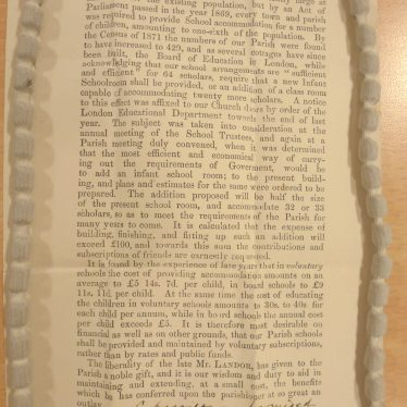 An Appeal by the School Trustees for funds | Warwickshire County Record Office reference DR574/173