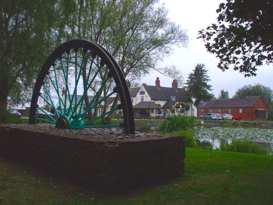Baxterley winding wheel memorial, 2014. | Photo by Benjamin Earl.