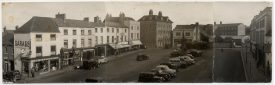 Photograph of the Market Place, Warwick, taken from the top floor of the Market Hall. | Warwickshire County Record Office reference PH1070/3