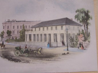 In the print showing the Royal Pump Room, the carriage in the foreground is a phaeton. Although there were several different types of Phaeton I suspect this was most likely to be the type Mr Sharkey was driving at the time of the accident.