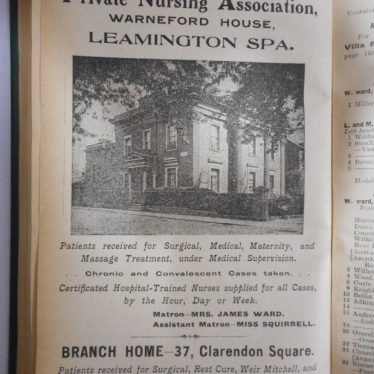 Florence Rose and Lillie Richardson Squirrell - Warneford House Nursing Home