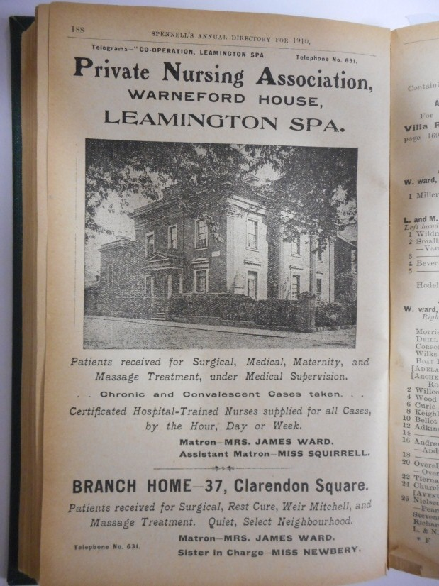 Spennells Directory, 1909. | Available to consult at the Warwickshire County Record Office.