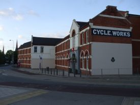 The Swift factory, 2014. The end wall says 'Cycle Works' | Photo by Benjamin Earl.