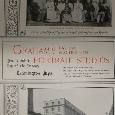 Brochure for Robert Graham Studios, c. 1902. | Warwickshire County Record Office reference CR 734/20