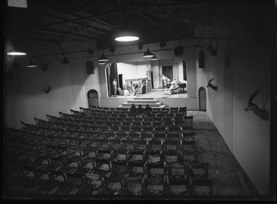 Rehearsals at the Loft Theatre in August 1948. | Warwickshire County Record Office reference PH(N)600/214/1