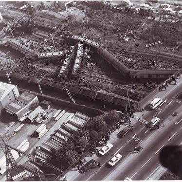 Nuneaton Train Crash 1975   Picture courtesy of Sylvana Strong, Nuneaton Memories.