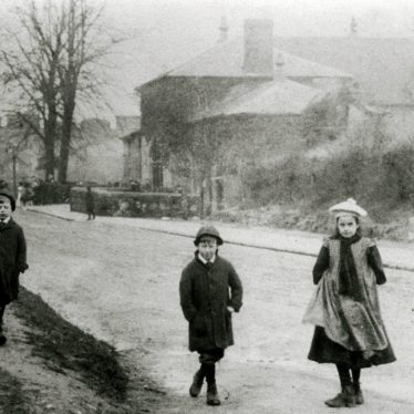 Coton Free School, and three children. | Image supplied by John Burton.