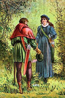 Robin Hood and Maid Marian, poster from the 1880s. | Picture courtesy of Wikipedia, released by them to the public domain.