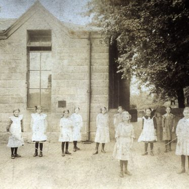 Girls outside Coton Free School. | Image supplied by John Burton.