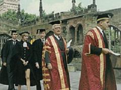 University of Warwick's first degree ceremony in Coventry Cathedral, 1968 | Picture courtesy of the University of Warwick