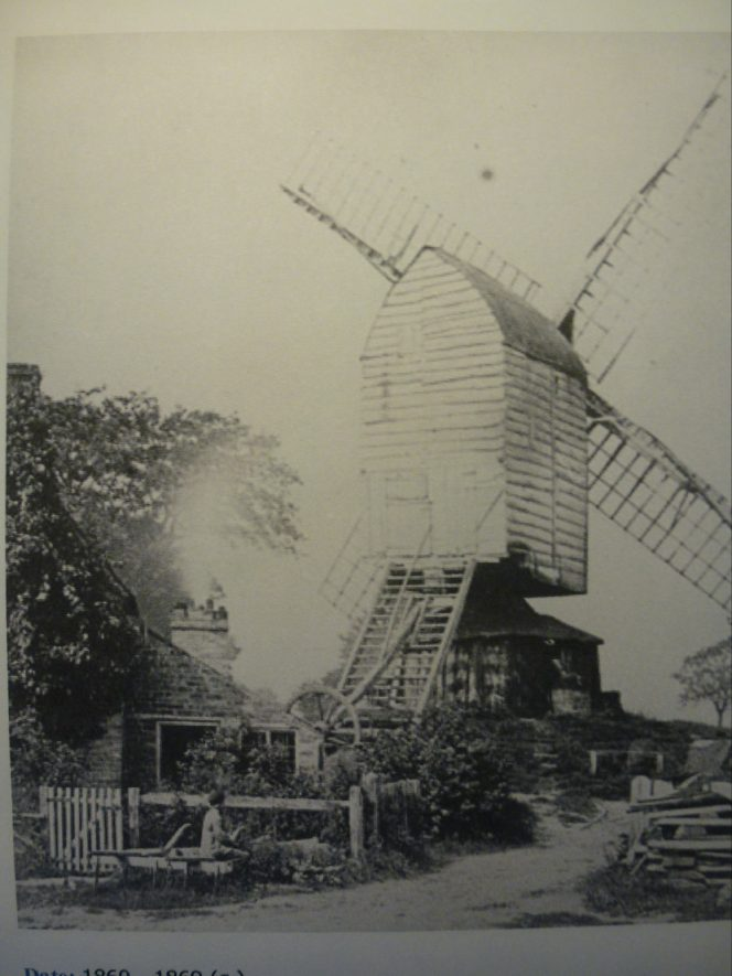 Cubbington Windmill as photographed between 1860 and 1869. | Warwickshire County Record Office reference PH 228/27.