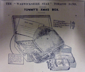 "The ""Warwickshire Star"" Tobacco Fund – Tommy's Xmas Box 