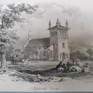 Christ Church around 1830 | Warwickshire County Record Office reference CR351/162