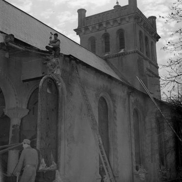 What's Health & Safety? Christ Church being demolished. | Warwickshire County Record Office reference PH(N) 600/432/6